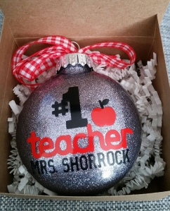 Teacher ornaments customized.